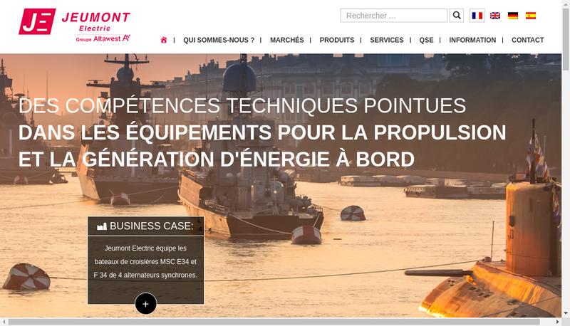 Capture d'écran du site de Jeumont Electric