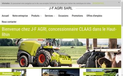 Site internet de Jf Agri SARL
