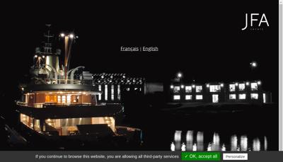 Capture d'écran du site de Jfa Chantier Naval