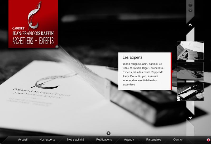 Capture d'écran du site de Cab Archetiers Experts Jf Raffin