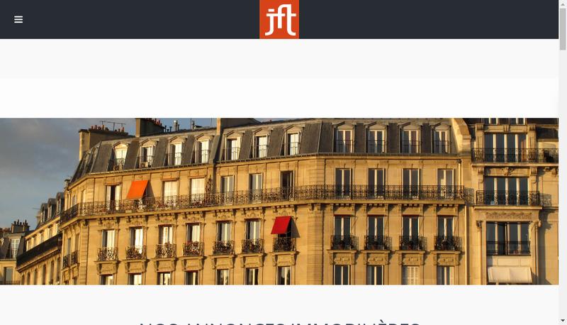 Capture d'écran du site de Jft Gestion