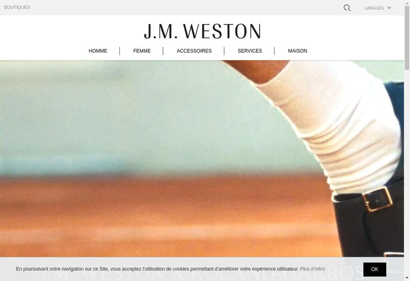 Capture d'écran du site de JM Weston Weston