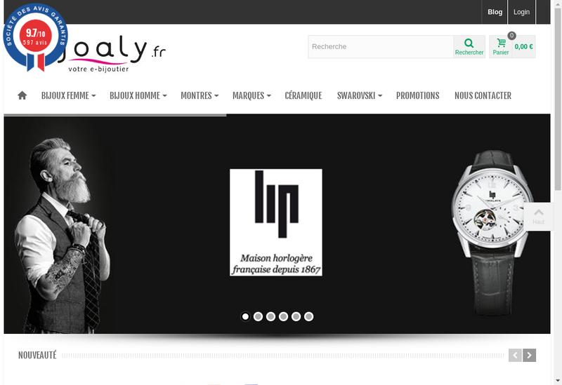 Capture d'écran du site de Joaly