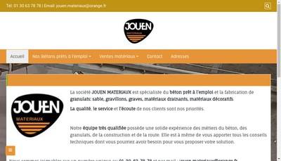 Site internet de Jouen Materiaux