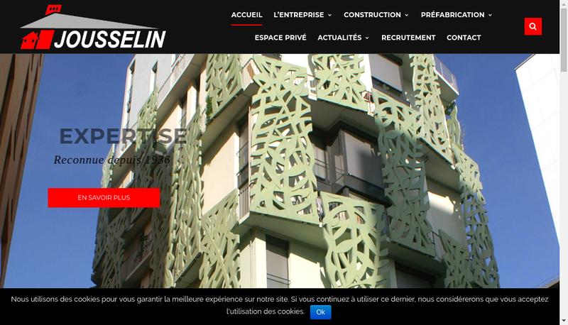 Capture d'écran du site de Jousselin Prefabrication