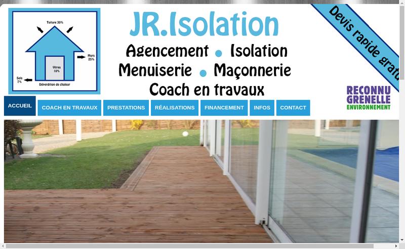 Site internet de Jr Isolation