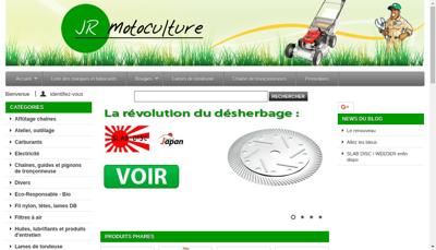 Capture d'écran du site de Jr Motoculture