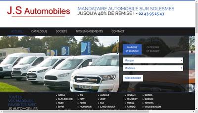 Site internet de Js Automobiles