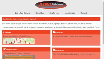 Site internet de Jubil Interim Beziers