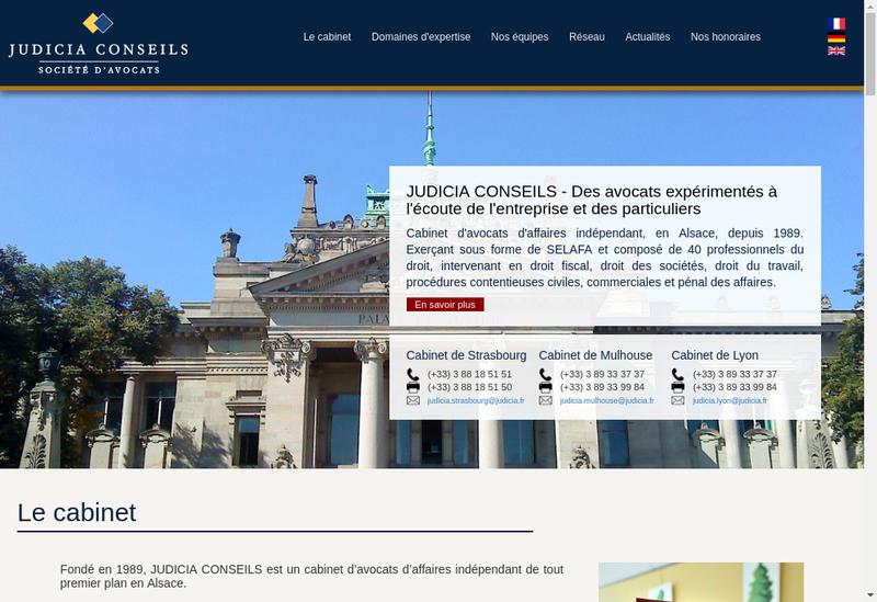 Capture d'écran du site de Judicia Conseils