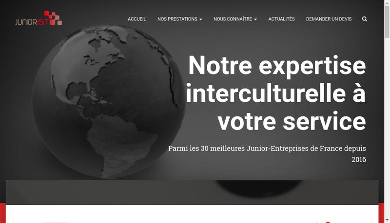 Capture d'écran du site de Junior ISIT