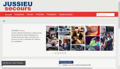 Capture d'écran du site de Jussieu Secours Forbach