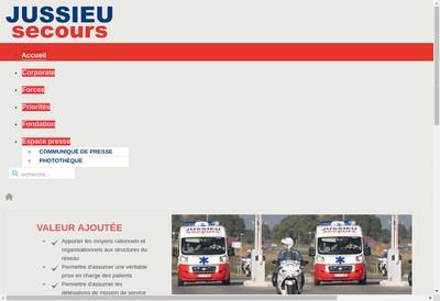 Site internet de Jussieu Secours Forbach