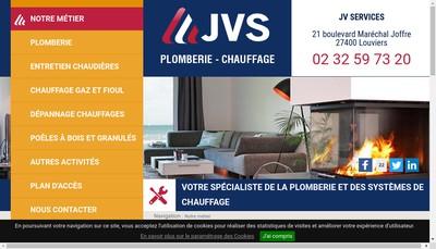 Site internet de Jv Services