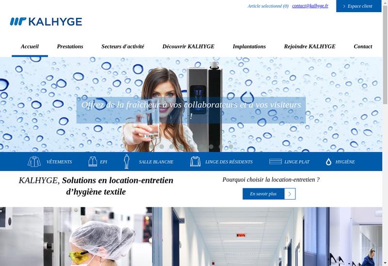Capture d'écran du site de Kalhyge 2