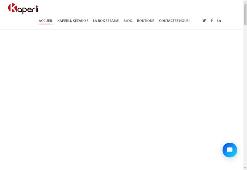 Capture d'écran du site de Kaperli
