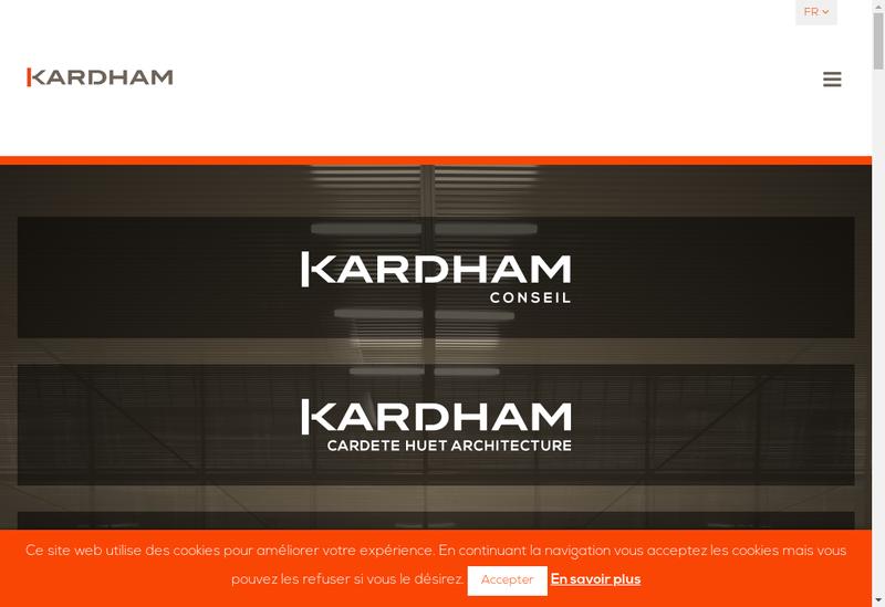 Capture d'écran du site de Kardham Cardete Huet Sud Ouest