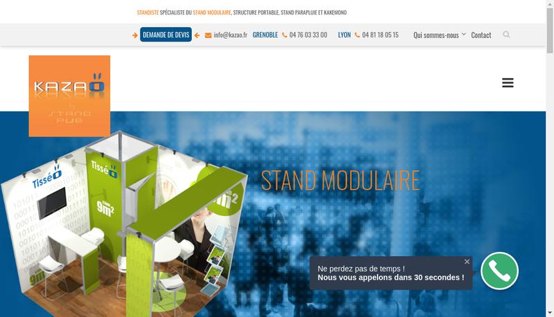 Capture d'écran du site de Kazao