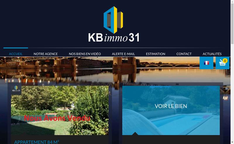 Capture d'écran du site de Kb Immo 31