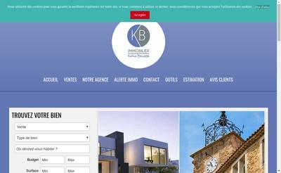Site internet de Kbimmobilier