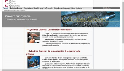 Site internet de Keller Dorian Graphics