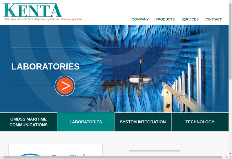 Capture d'écran du site de Kenta