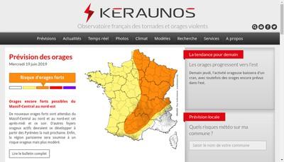 Site internet de Keraunos