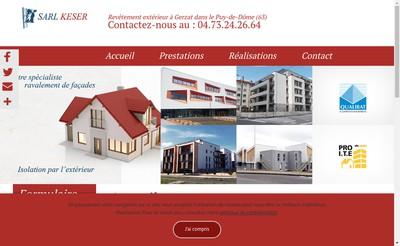 Site internet de SARL Keser