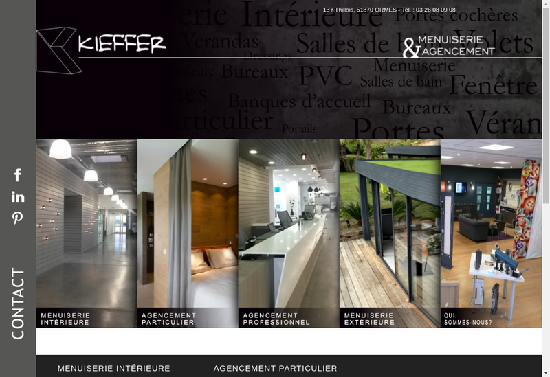 Capture d'écran du site de Kieffer Menuiserie