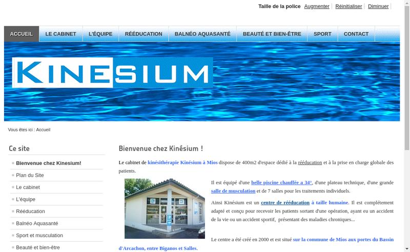 Site internet de Kinesium