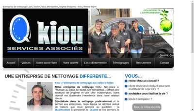 Site internet de Kiou Services Associes