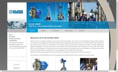 Site internet de Klaus Union SARL