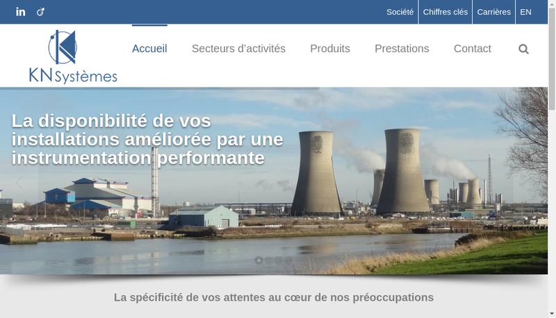 Capture d'écran du site de Kn Systemes