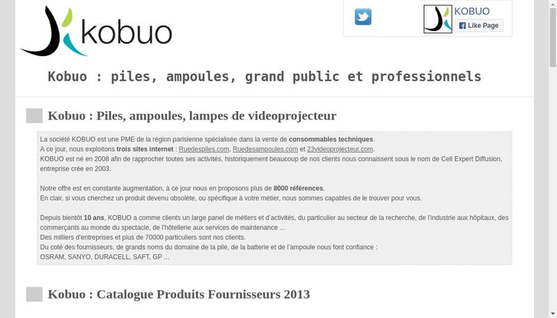Capture d'écran du site de Kobuo