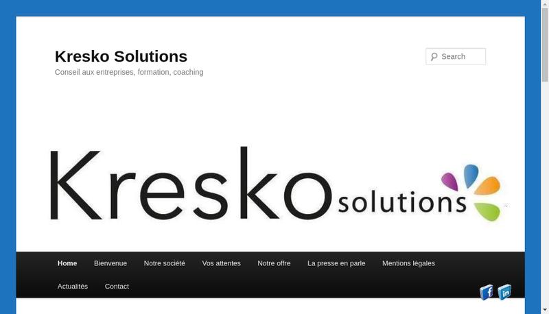 Capture d'écran du site de Kresko Solutions