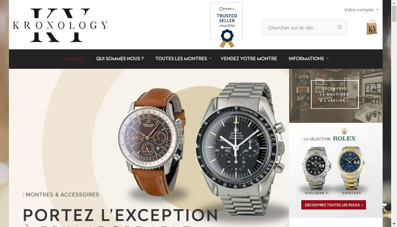 Capture d'écran du site de Kronology