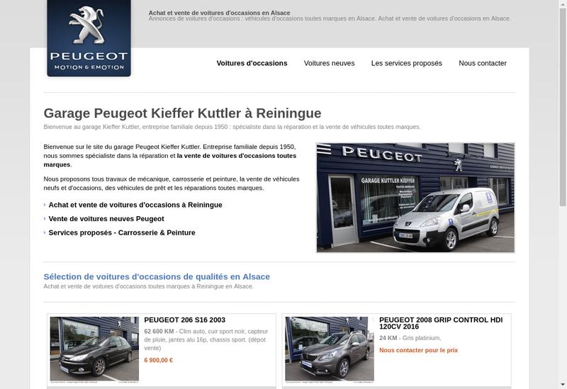 Capture d'écran du site de Garage Kieffer Kuttler
