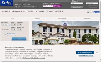 Site internet de Hotel Kyriad - Restaurant la Soupiere
