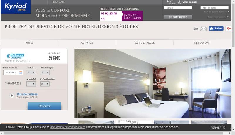 Capture d'écran du site de Le Voronis