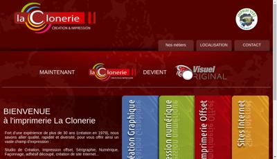 Capture d'écran du site de La Clonerie