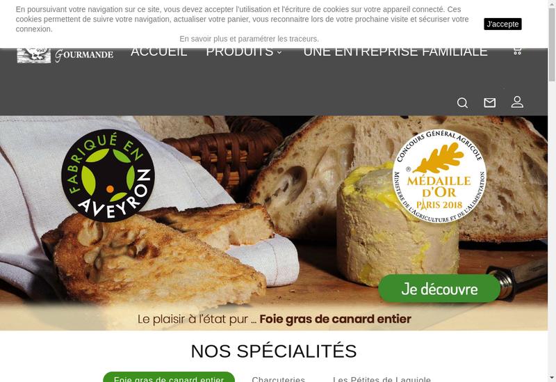 Capture d'écran du site de La Drosera Gourmande