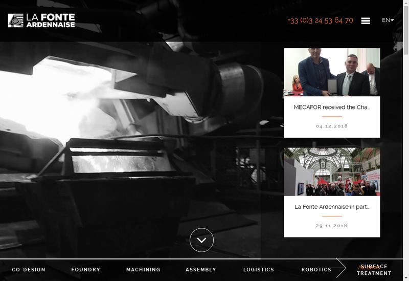 Capture d'écran du site de La Fonte Ardennaise