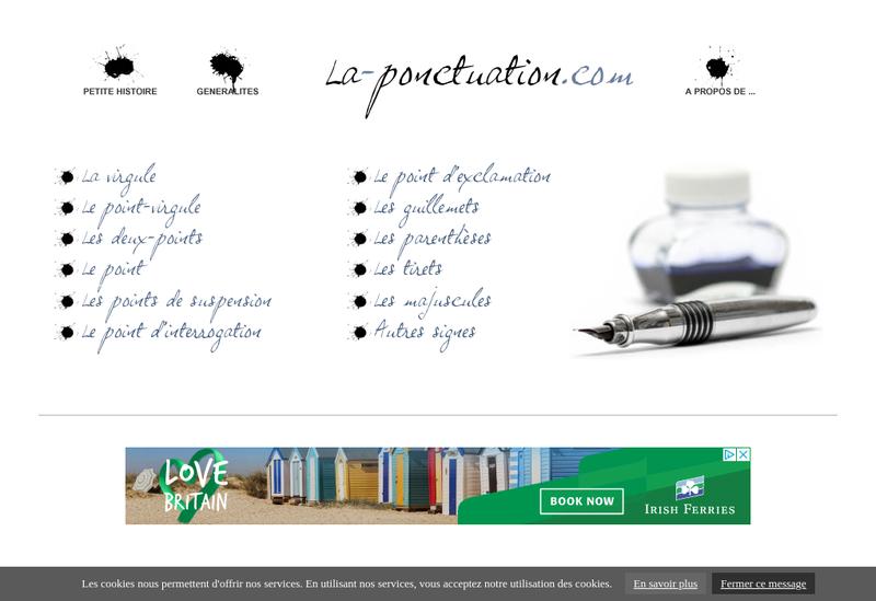 Capture d'écran du site de Double Ponctuation
