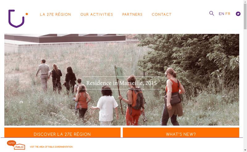 Capture d'écran du site de La 27E Region