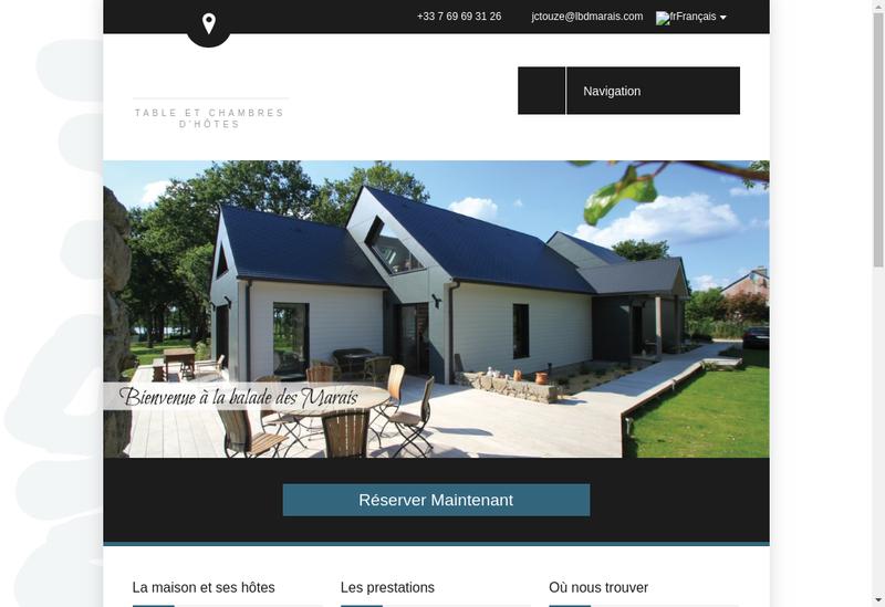 Capture d'écran du site de La Balade des Marais