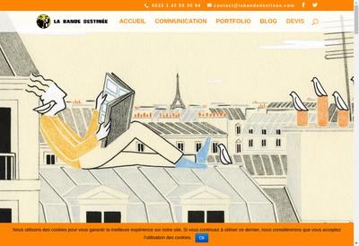 Site internet de La Bande Destinee SARL