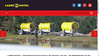 Capture d'écran du site de Labbe Rotiel