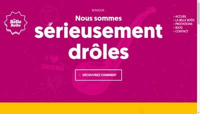 Site internet de La Belle Boite Management