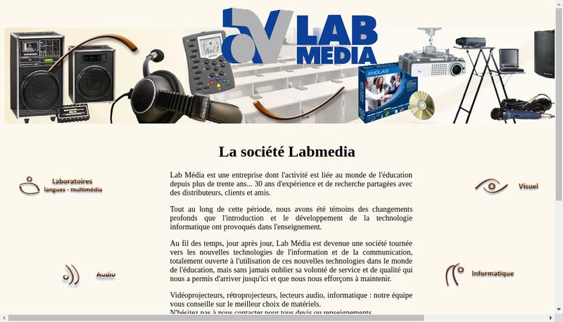 Capture d'écran du site de Lab Media