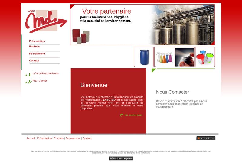 Capture d'écran du site de Labo MD